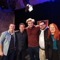 Bruno Peetroons, Andreas Kilian, Juso Bundesvorsitzender Kevin Kühnert, Tim Siebeneicher und Landratskandidatin Christine Negele